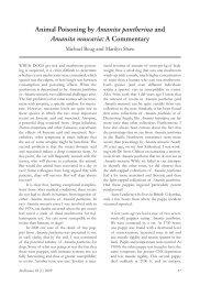 Animal Poisoning by Amanita pantherina and Amanita muscaria: A ...