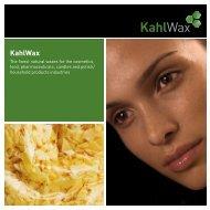 Image Flyer (.PDF, 470 KB) - KahlWax
