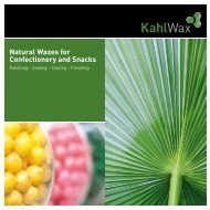 Overview Confectionery Waxes - KahlWax