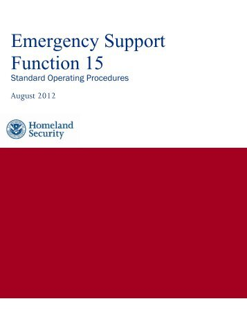 Emergency Support Function #15 - Learning Resource Center ...