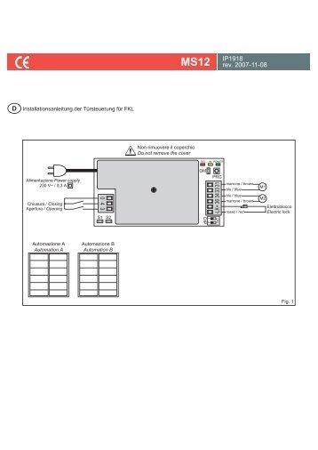 Betriebsanleitung Steuerung MS12 deutsch - bei Berner Torantriebe