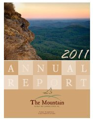 2011 Annual Report - Mountain Retreat and Learning Center