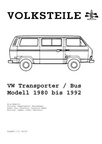 Volksteile Katalog - Club 80-90