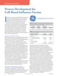 Process Development for Cell-Based Influenza Vaccine