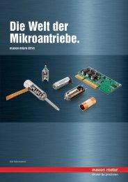 Die Welt der Mikroantriebe.
