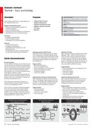 maxon sensor Technik – kurz und bündig - Maxon Motor