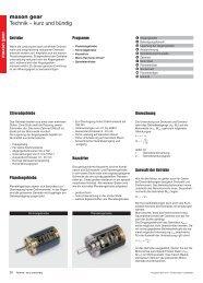 maxon gear Technik – kurz und bündig - Maxon Motor