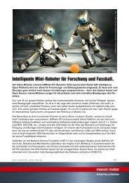 PDF - Intelligente Mini-Roboter für Forschung und ... - Maxon Motor