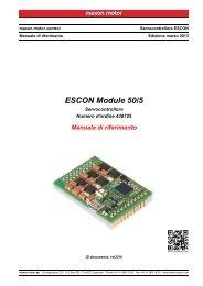 ESCON Module 50/5 Manuale di riferimento - Maxon Motor ag