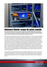 PDF - Autonome Roboter sorgen für grüne Logistik. - Maxon Motor