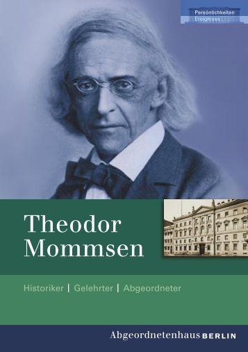 Theodor Mommsen - Abgeordnetenhaus von Berlin