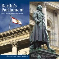 Berlin's Parliament - Abgeordnetenhaus von Berlin