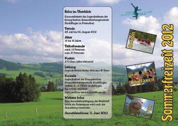 Flyer - Evangelische Gesamtkirchengemeinde Sindelfingen
