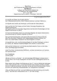 Rede des Präsidenten Ralf Wieland - Abgeordnetenhaus von Berlin
