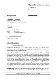 Inhaltsprotokoll - Abgeordnetenhaus von Berlin