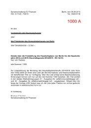 1000 A - Abgeordnetenhaus von Berlin