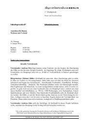 Inhaltsprotokoll* - Abgeordnetenhaus von Berlin