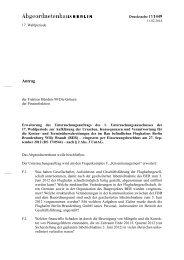Antrag - Abgeordnetenhaus von Berlin