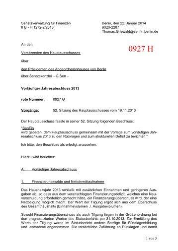 0927 H - Abgeordnetenhaus von Berlin