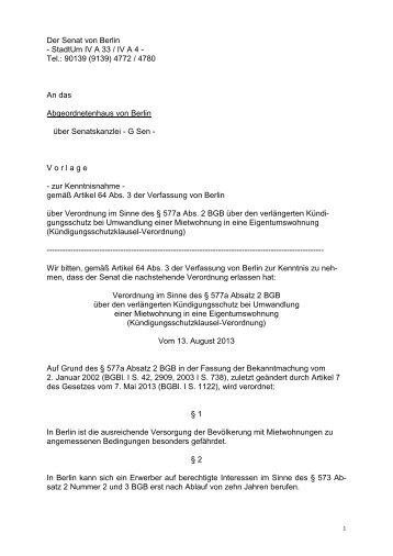 17/106 - Abgeordnetenhaus von Berlin