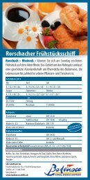 Flyer Rorschacher Frühstücksschiff
