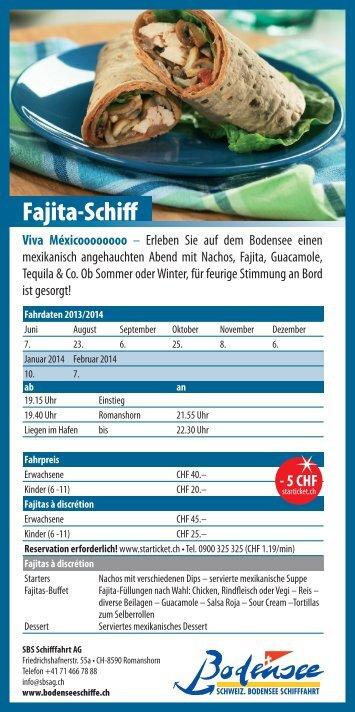 Flyer Fajita-Schiff