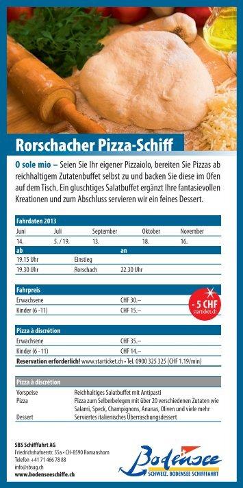 Flyer Rorschacher Pizza-Schiff