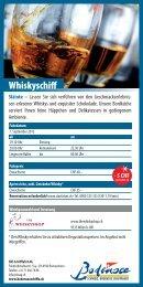 Flyer Whiskyschiff