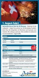Flyer 1. August-Fahrt