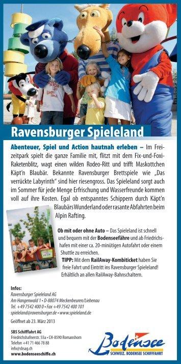 Flyer Ausflug Ravensburger Spieleland