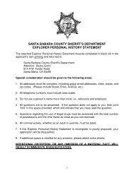 Explorer Personal History Statement - Santa Barbara County ...