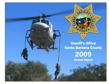 Annual Report 2009 - Santa Barbara County Sheriff's Department