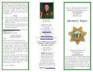 Identity Theft - Santa Barbara County Sheriff's Department