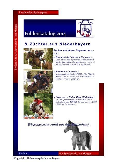Fohlenkatalog 2014