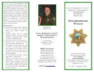 Neighborhood Watch - Santa Barbara County Sheriff's Department