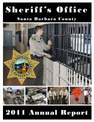 Annual Report 2011 - Santa Barbara County Sheriff's Department