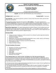 Custody Deputy - Santa Barbara County Sheriff's Department