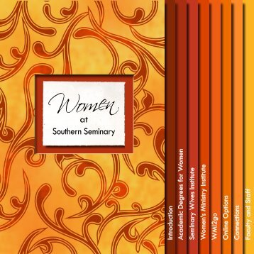 womens-brochure - The Southern Baptist Theological Seminary