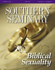 spring 2 0 0 4 thetievolume 7 2, number 1 - The Southern Baptist ...