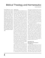 4 Biblical Theology and Hermeneutics - The Southern Baptist ...