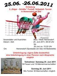 """Einladung 2.""""Edgar – Schäfer"""" Freiluft- Volleyball- Turnier in ..."""