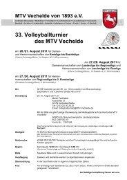 33. Volleyballturnier des MTV Vechelde - Sportclub Baume eV