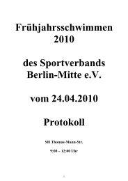 Ergebnisse - Schwimmclub Humboldt-Universität zu Berlin eV