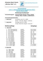 Ausschreibung - Schwimmclub Humboldt-Universität zu Berlin eV