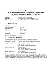 Ausschreibung zu den 41. Deutschen Meisterschaften
