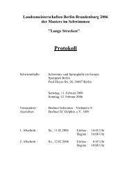 Protokoll - Schwimmclub Humboldt-Universität zu Berlin eV
