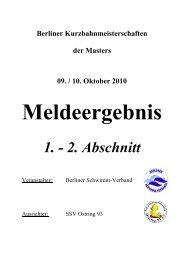 Meldeergebnis - Schwimmclub Humboldt-Universität zu Berlin eV