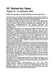 Ausgabe 31 vom 23. September 2005 - SC Norbertus