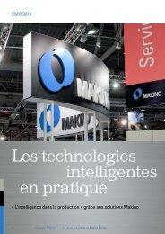 Les technologies intelligentes en pratique - Makino Europe