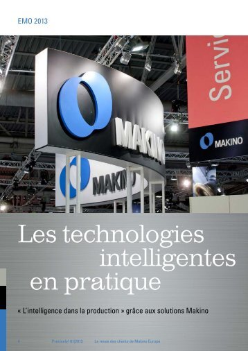 Les technologies intelligentes en pratique - Makino Europe